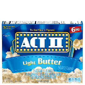 Act II Light Butter Popcorn (Single)