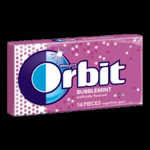 Orbit Bubble Mint Gum 14 Pieces