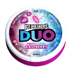 Ice Breakers Duo Fruit + Cool Raspberry