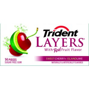 Trident Layers Cherry + Lime