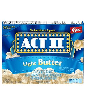 Act II Light Butter Popcorn (Single)