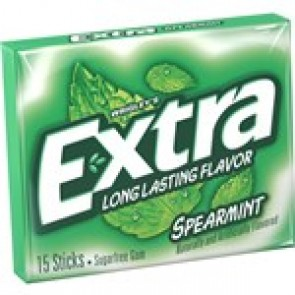Extra Spearmint Gum 15 Sticks