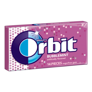 Orbit Bubble Mint Gum 14 Pieces