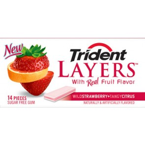 Trident Layers Strawberry + Citrus