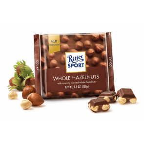 Ritter Sport Milk Chocolate Whole Hazelnuts
