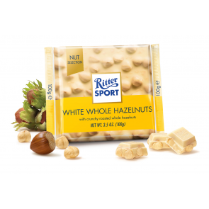 Ritter Sport White Chocolate Whole Hazelnuts