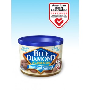 Blue Diamond Roasted Salted Almonds 6oz Can