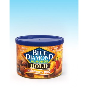 Blue Diamond Habanero BBQ Almonds 6oz Can