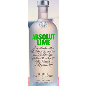 Absolut Lime Vodka (750 ML)